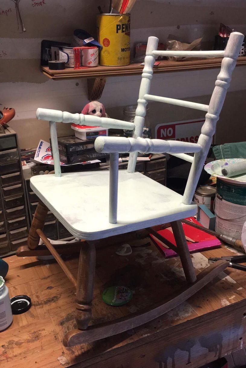 Bohemian Heart Wing Kidu0027s Rocking Chair DIY Project Home Decor Gypsy Kids  DIY Furniture Restoration Bohemian