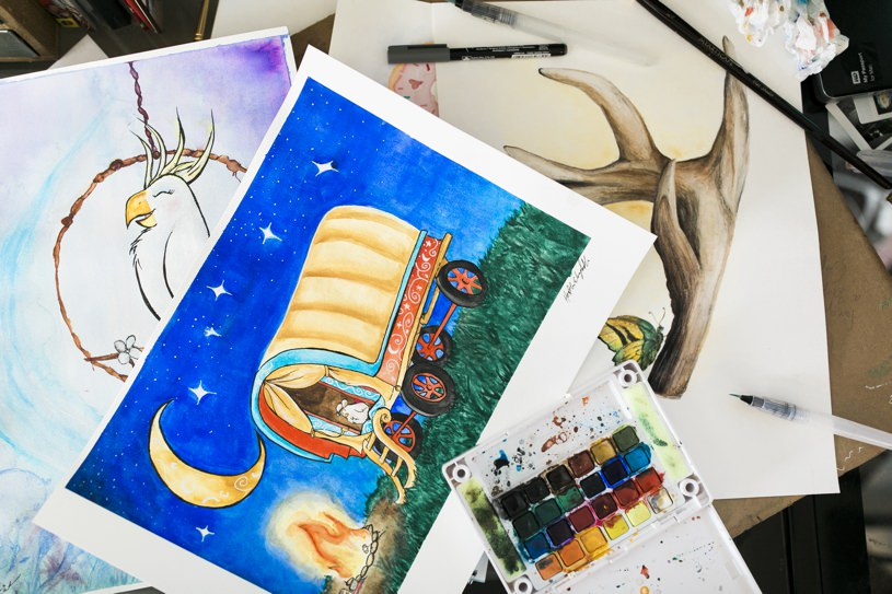 Finding your personal vision Journal Watercolors  watercolor artist painter Bay Area artist artist blog advice for artists