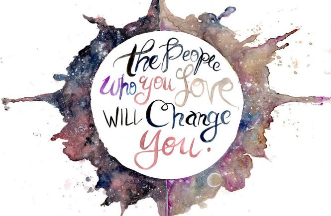 The people you love will change you Journal Watercolors  watercolor artist san francisco bay area watercolor artist motivational. love law of attraction happiness art blogger